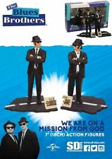 SD Toys The Blues Brothers Jake and Elwood 7 Inch Figure Set New
