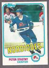 1981 Topps #39 Peter Stastny rookie card, Quebec Nordiques