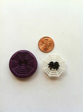 Spider/web Halloween Flexible Silicone Push Mold for Polymer clay/ Resin/