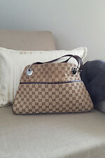 *GUCCI* MONOGRAM ECLIPSE CANVAS SHOULDER BAG