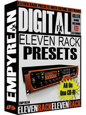 Avid Eleven Rack Presets Guitar Effects Rigs Artist Tones & Amp Settings
