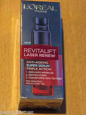 L'OREAL  REVITALIFT LASER RENEW ANTI AGEING SUPER SERUM TRIPLE ACTION
