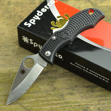 Spyderco Ladybug 3 Black Plain Edge VG-10 Keyring Knife LBKP3 New