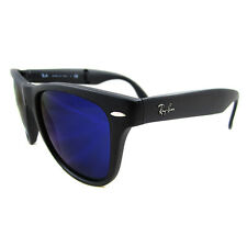 Rayban Sunglasses Folding Wayfarer 4105 Matt Black Blue 601S68 50mm