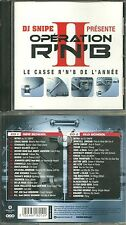 RARE / DJ SNIPE : OPERATION R'N'B 2 ( 2 CD ) / NEW SCHOOL - OLD SCHOOL