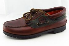 Timberland Men Shoes Size 9.5 Brown Leather Fashion Sneakers
