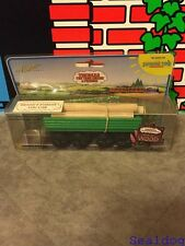 RARE Thomas Wooden Railway 1992 Henrys Log Car New In Box Shining Time Staples