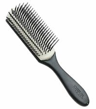 Denman D3N Medium Black, White Hairdressing Salon 7 Row Nylon Styling Hair Brush