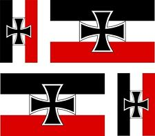4x germany cross imperial flag decals sticker scooter car vinyl luggage helmet
