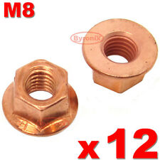 BMW E30 3 SERIES EXHAUST MANIFOLD NUTS HEAD STUD NUT M8 HEX COPPER SELF LOCKING