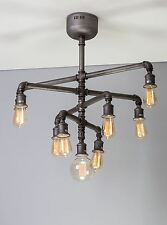 Steampunk pipe chandelier vintage industrial lights 9 edison bulbs pendant light