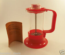 Red Travel Coffee and Tea Maker French Press 3 Cup