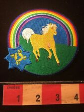 Beautiful HORSE & RAINBOW Patch 60Y1