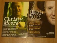 Christy Moore Scottish tour concert gig posters x 2