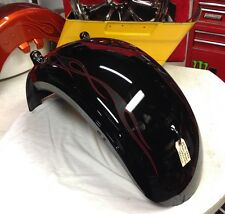 08-11 Harley Davidson Softail Rocker C (FXCWC) Rear Factory Fender Black Flames