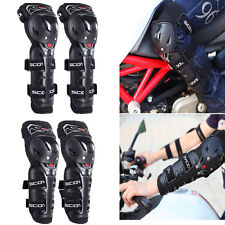 Adult Elbow Knee Shin Armor Guard Pads Protector for Motorcycle Bike ATV Scoyco