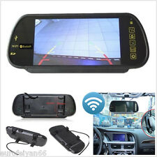 "7""TFT LCD Color USB Bluetooth MP5 FM Transmitter Car Rear View Mirror HD Monitor"