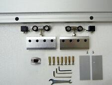Schiebesystem silberfarben ALU60 für Glastür geschlossenes System 2100 mm Länge