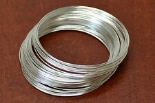 100 LOOPS STAINLESS STEEL METAL MEMORY WIRE BANGLE BRACELET 0.6mmx56mm #T-2400