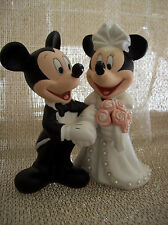 Disney Wedding Figure Mickey/Minnie Mouse Bride Groom Gift Cake Topper Porcelain