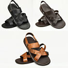 Mens Real Leather Sandals Casual Gladiator Desert Beach Strap 6 7 8 9 10 11