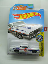FORD TORINO TALLADEGA WHITE DRAG HOT WHEELS MINT ON LONG CARD