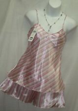 PINK AND WHITE  2PC.BABY DOLL. STRIPED. LINGERIE,PAJAMAS,SLEEPWEAR,-M-#203