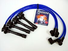 VMS FOR NISSAN SR20DE ENGINE 10MM TRIPLE CORE SPARK WIRES NGK IRIDIUM PLUGS BLUE
