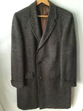 Vintage Harris Tweed Long Coat Overcoat Preppy Rockabilly 50's 60's