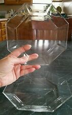 (2) Cristal D'Arques-Durand Arcoroc Octime Clear Octagonal Salad Plates France