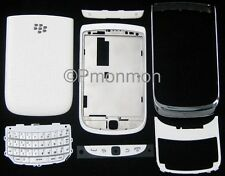White Blackberry Torch 2 9810 Housing Cover w Faceplate Bezel Keyboard Door Top