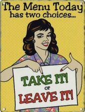 The Menu Today meal, kitchen dinner Retro 50's Girl Funny/Classic Fridge Magnet