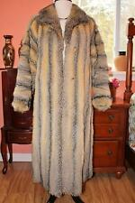 Gorgeous! AMERICAN GRAY FOX~ PRAIRIE FOX Long Fur Coat M L 10 12