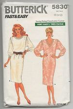 BUTTERICK 5830 MISSES DRESS SEWING PATTERN SIZE 8-10-12 VERY EASY PATTERN