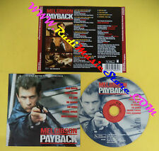 CD SOUNDTRACK MEL GIBSON Payback VSD 6003 GERMANY 1998 no mc lp vhs dvd (OST3)