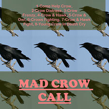 CD GAME CALL, CROW HUNTING, MULTIPAL MOST EFFECTIVE CROW CALLS PLAY & SHOOT AA+