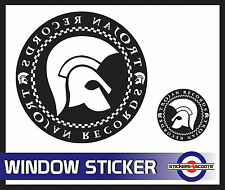 "Trojan Black Decal Reverse Window Sticker 180mm 7""  VW Camper Car Large  ws9"