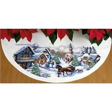 Dimensions Sleigh Ride Tree Skirt Counted Cross Stitch Kit - 435158