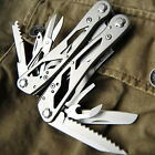 Multi Tools Silver GANZO G202 Multi Pliers Toolkit Screwdriver Knives Pocket