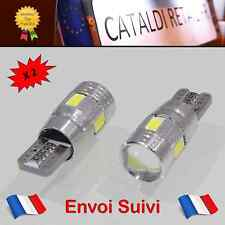 2 x Veilleuses LED T10 W5W 6 SMD Canbus Anti Erreur ODB Blanc Pur / FRANCE !