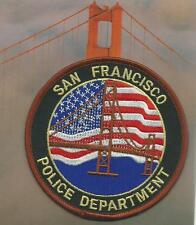 California San Francisco Police Patch SFPD Golden Gate policía insignia de tela