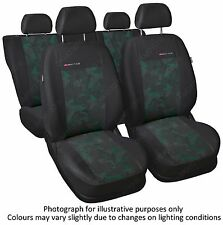 FORD FOCUS SEAT COVERS   Mk1 , Mk2 1998 - 2010 - FULL SET grey/green (56)