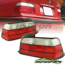 1992 1993 1994 1995 1996 1997 1998 1999 BMW E36 Coupe Red Clear Tail Lights Pair