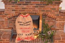 Christmas Stocking Large Sack Santa Burlap Hessian Name Personalized Bespoke