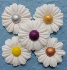 PK 5 FLORAL PEARL CENTRE FLOWERS EMBELLISHMENTS FOR CARDS AND CRAFTS