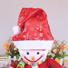 Christmas Santa Claus Red Hat Nonwoven Xmas Cap Party Costume Decor Gifts