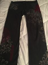Lucky Brand❥Floral Dragon❥Asian Embroidery❥Lounge Sweat Pants❥Med EUC