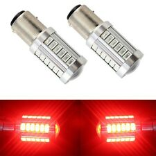 2pcs Red BAY15D 1157 1142 Car Tail Reversing Brake Light 5730 33-SMD LED Bulbs