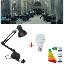 LED Desk Lamp Adjustable Table Light Study Reading+Auto Dimmable Warmwhite Bulb