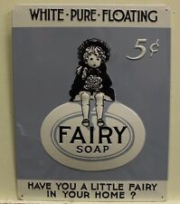 Fairy Soap metal sign vintage style ad 3D style embossing laundry hand cleaning